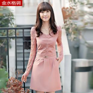 2012夏季新款女装连衣裙 欧美气质雪纺短袖修身