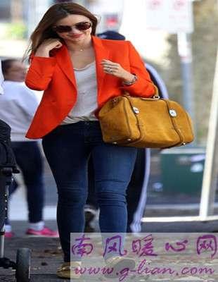 女装小西装颜色搭配之橘色 时尚触手可及
