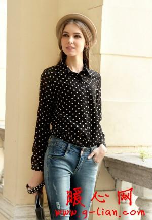 韩版复古女装长袖衬衫 2013年新款韩版修身衬衣
