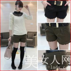 少女短裤专卖 清新气质时尚的少女短裤轻松秀出你的美腿