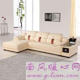 欧式真皮沙发 可调整头枕舒适更给力