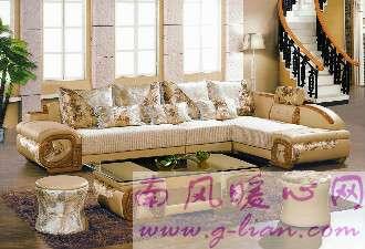 转角沙发 空间大小和美观都不是问题