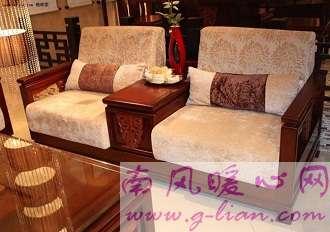 中式沙发 裸露实木框架别有一番风味