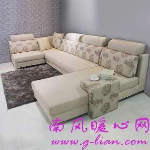 绒布沙发打造低调奢华高贵品质 让家居高档起来