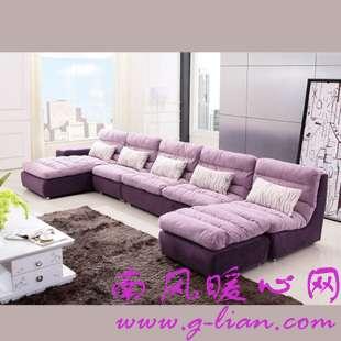 布艺沙发清新雅致别有一番韵味在里头