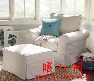 高贵优雅白色布艺沙发 温馨浪漫蔓延转角瞬间