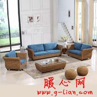 多姿多彩沙发搭配出不同风格 藤制沙发创造不同的动感
